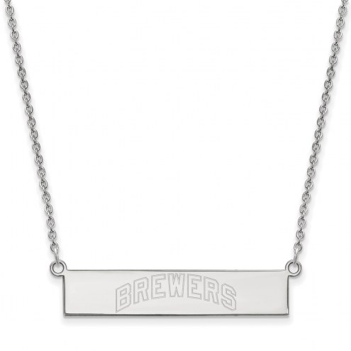 Milwaukee Brewers Sterling Silver Bar Necklace