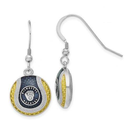Milwaukee Brewers Sterling Silver Earrings