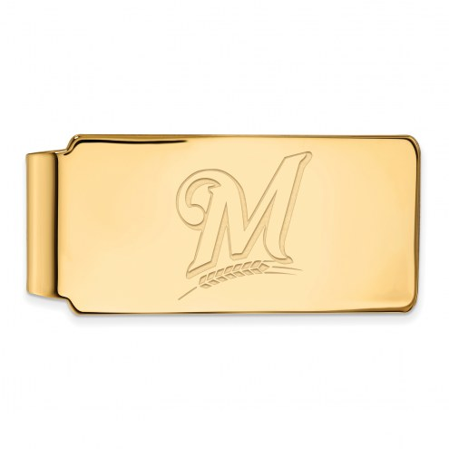 Milwaukee Brewers Sterling Silver Gold Plated Money Clip
