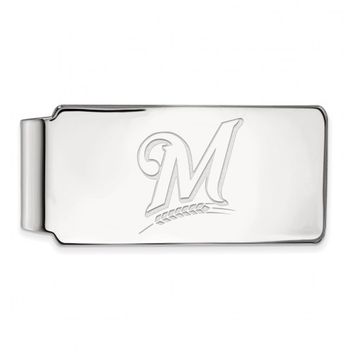 Milwaukee Brewers Sterling Silver Money Clip