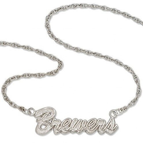 Milwaukee Brewers Sterling Silver Script Necklace