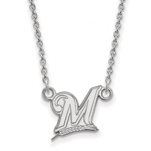 Milwaukee Brewers Sterling Silver Small Pendant Necklace