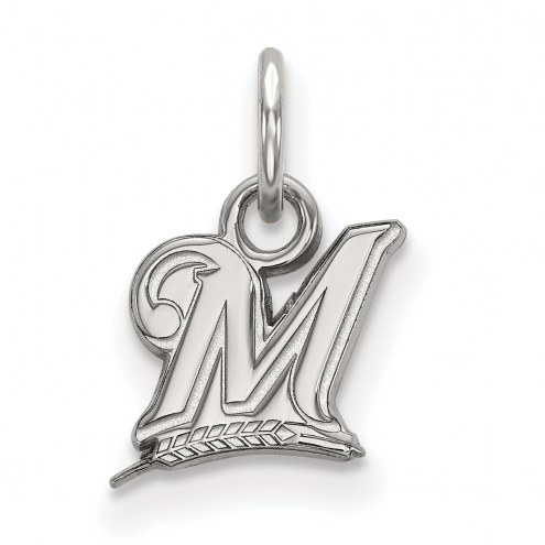 Milwaukee Brewers Sterling Silver Extra Small Pendant