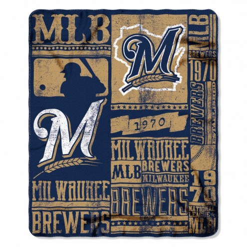 Milwaukee Brewers Strength Fleece Blanket