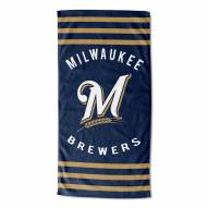 Milwaukee Brewers Stripes Beach Towel