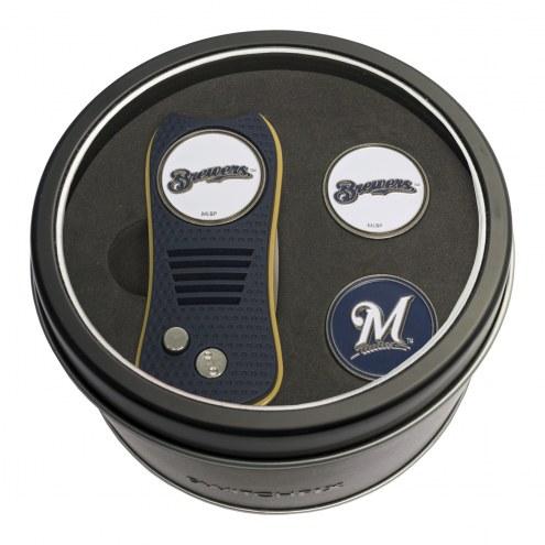 Milwaukee Brewers Switchfix Golf Divot Tool & Ball Markers