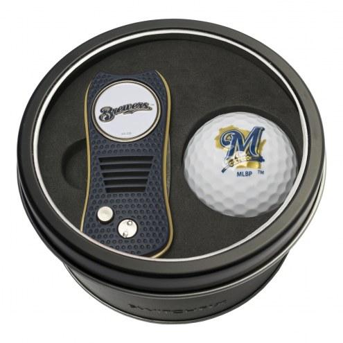 Milwaukee Brewers Switchfix Golf Divot Tool & Ball