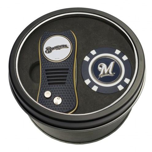 Milwaukee Brewers Switchfix Golf Divot Tool & Chip