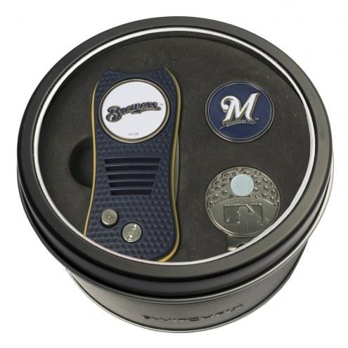 Milwaukee Brewers Switchfix Golf Divot Tool, Hat Clip, & Ball Marker