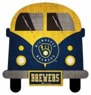 Milwaukee Brewers Team Bus Sign