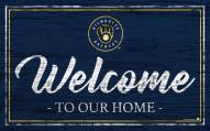 Milwaukee Brewers Team Color Welcome Sign