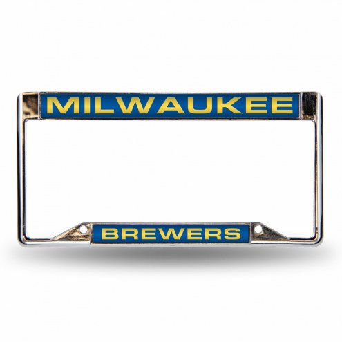 Milwaukee Brewers Team Laser Chrome License Plate Frame