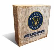 Milwaukee Brewers Team Logo Block