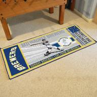 Milwaukee Brewers Ticket Runner Rug
