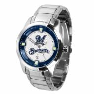 Milwaukee Brewers Titan Steel Men's Watch