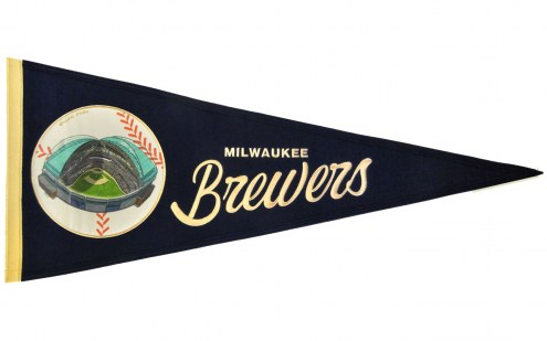 Milwaukee Brewers Vintage Ballpark Traditions Pennant