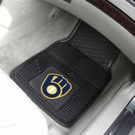 Milwaukee Brewers Vinyl 2-Piece Car Floor Mats