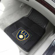 Milwaukee Brewers Vinyl 2-Piece Car Floor Mats