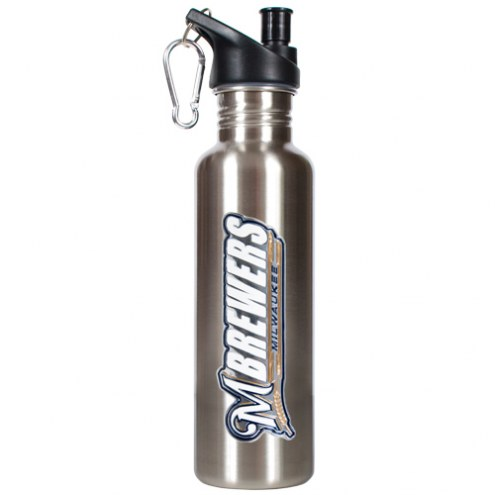 Milwaukee Brewers 26 oz. Water Bottle with Pop-Up Spout
