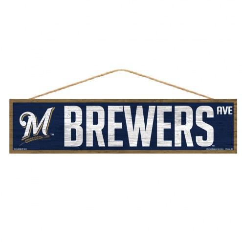 Milwaukee Brewers Wood Avenue Sign
