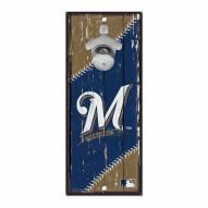 Milwaukee Brewers Wood Bottle Opener