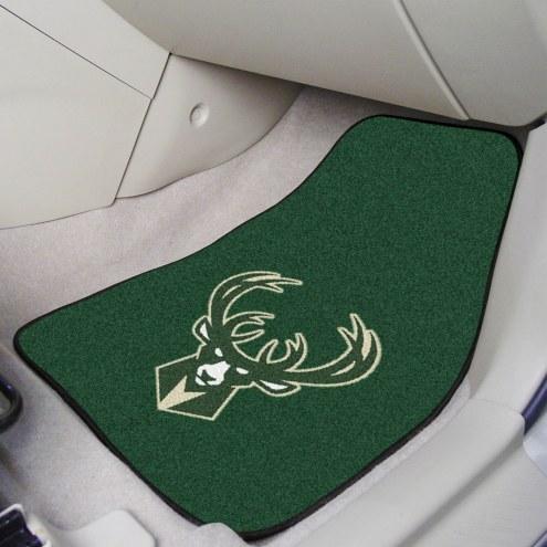 Milwaukee Bucks 2-Piece Carpet Car Mats