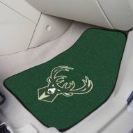 Milwaukee Bucks 2-Piece Carpet Car Mats