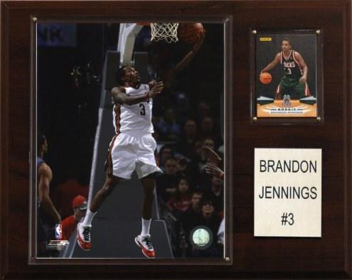 "Milwaukee Bucks Brandon Jennings 12"" x 15"" Player Plaque"