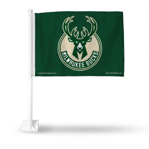 Milwaukee Bucks Car Flag