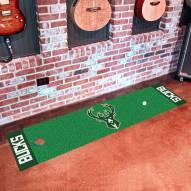 Milwaukee Bucks Golf Putting Green Mat