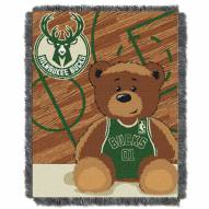 Milwaukee Bucks Half Court Baby Blanket
