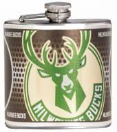 Milwaukee Bucks Hi-Def Stainless Steel Flask