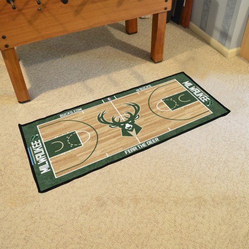 Milwaukee Bucks NBA Court Runner Rug
