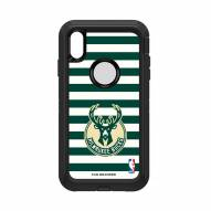 Milwaukee Bucks OtterBox iPhone XS Max Defender Stripes Case