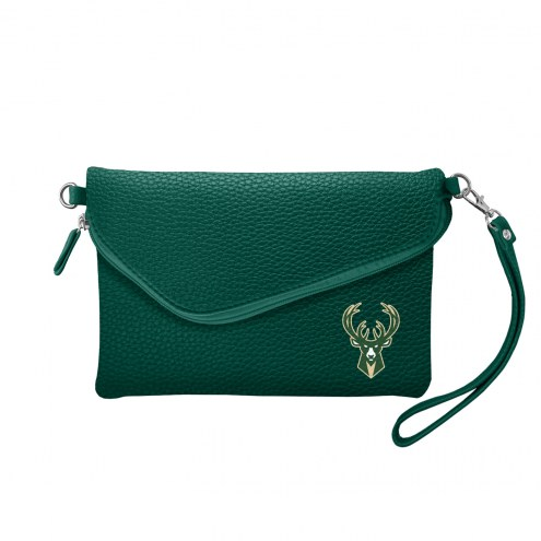 Milwaukee Bucks Pebble Fold Over Purse