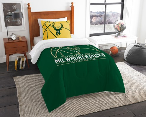 Milwaukee Bucks Reverse Slam Twin Comforter Set