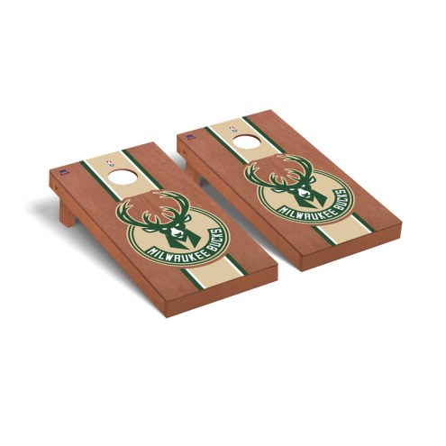 Milwaukee Bucks Rosewood Stained Cornhole Game Set