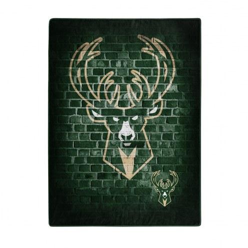 Milwaukee Bucks Street Raschel Throw Blanket