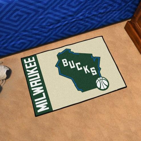 Milwaukee Bucks Uniform Inspired Starter Rug