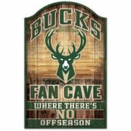 Milwaukee Bucks Fan Cave Wood Sign