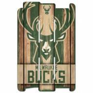 Milwaukee Bucks Wood Fence Sign
