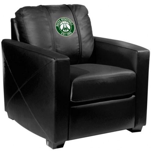 Milwaukee Bucks XZipit Silver Club Chair with Secondary Logo