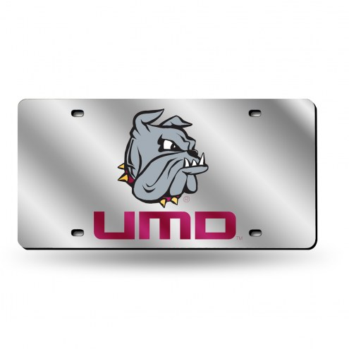 Minnesota Duluth Bulldogs Silver Laser Cut License Plate