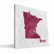 "Minnesota Golden Gophers 12"" x 12"" Home Canvas Print"