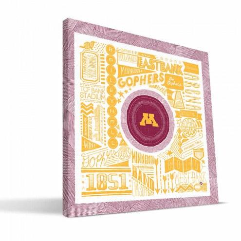 "Minnesota Golden Gophers 16"" x 16"" Pictograph Canvas Print"