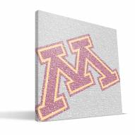 "Minnesota Golden Gophers 16"" x 16"" Typo Canvas Print"