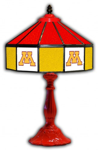 "Minnesota Golden Gophers 21"" Glass Table Lamp"