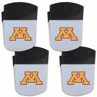 Minnesota Golden Gophers 4 Pack Chip Clip Magnet with Bottle Opener