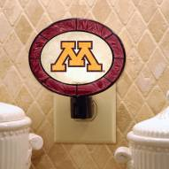 Minnesota Golden Gophers Art Glass Night Light