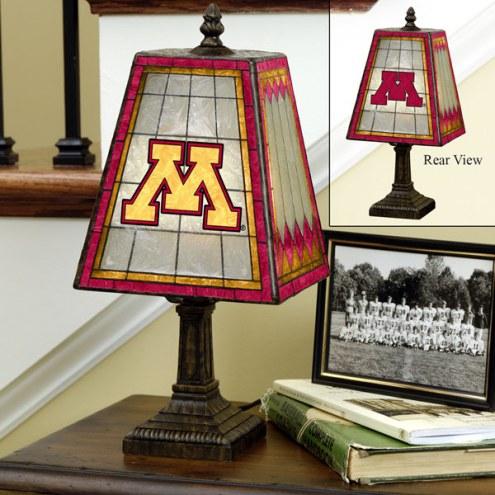 Minnesota Golden Gophers Art Glass Table Lamp